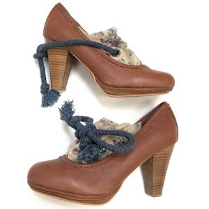 Shellys | Leather Rope Heel